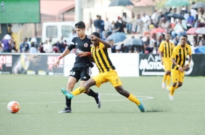 SOWETO, SOUTH AFRICA - MARCH 15:  Kaizer Chiefs v Club Tjuana players during Future Champions Gauteng on March 15, 2016 at Nike Centre Pimville in Soweto, South Africa.   (Photo by Ntombi Ntekele/Justus Media
